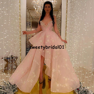 New Pink A Line Prom Dresses 2021 Lace Sweetheart Split Front Party Dress for Women Cocktail Gowns vestidos de graduación
