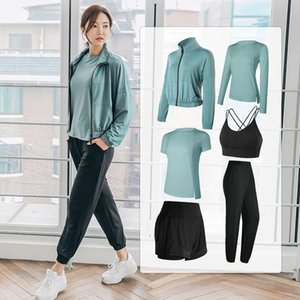 High end yoga professional fitness sports top running fast drying clothes elastic tight fashion net red women's coat
