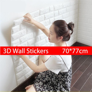 3D Wall Stickers Imitation Brick Panels Bedroom Decor Waterproof Self-Adhesive Wallpaper Living Room Kitchen TV Backdrop Decor