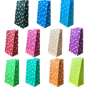 Party Candy Treat Wrap Bag Polka Dot Loot Bags Birthday Food Paper Bags
