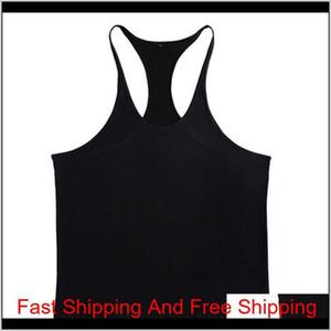 2020 New Men Gym Singlet Stringer Muscle Tank Tops Fitness Sport Shirt Mens Fitness Singlet Sleeveles qylNeT item_home