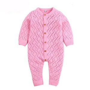 Baby kids  clothes girls Boy romper Knitted Hollow Out Soft Long Sleeve Romper infant girl Spring England Style romper