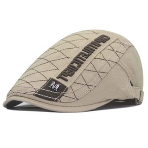 New's Casual Casual Newsboy Hat Letra Imprimir Retro Beret Hat Sombrero Salvaje Gorra Pico Unisex Primavera Y Otoño Octagonal Cap