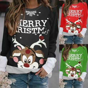 Loose oversize Christmas fawn Pullover T-shirt jacquard bottom sweater