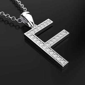 HBP Luxury New Minimalist Clavicle Chain Jewelry Korean Elegant Fashion English F Serie F Versátil Colgante Colgante Collar