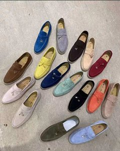 Sales Fashion Women loafers shoes lady lazy business casual flat Walk slip-on trend Suede leahter stlye comfortable LP for driver shoe Lovers Designer loro Big Size 43