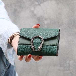 디자이너 순수한 작은 지갑 여성의 짧은 한국어 접이식 카드 가방 도매