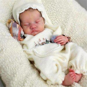 RSG Bebe Reborn Doll 17 Inches Lifelike Newborn Reborn Baby Levi Vinyl Unpainted Unfinished Doll Parts DIY Blank Doll Kit L0308