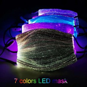 Halloween Luminous Mask With PM2.5 Filter 7 Colors Glowing LED Face Masks for Christmas Party Festival Masquerade Rave Mask