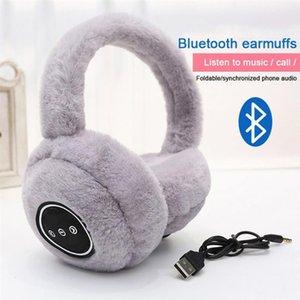 سماعة بلوتوث لاسلكية بلوتوث V5.0 سماعة لاسلكية سماعة على سماعة الأذن الدافئ رقيق الأذن الشتاء سماعات