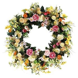 Искусственный цветок венок весенний лето венок для входной двери стены окна свадьба партия садовый дом дом декор дома