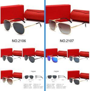 Gafas de sol de lujo de alta calidad UV400 Gafas de sol para hombres y mujeres Vidrios de sombrilla de verano Vidrio de sol de exterior 13 colores con caja