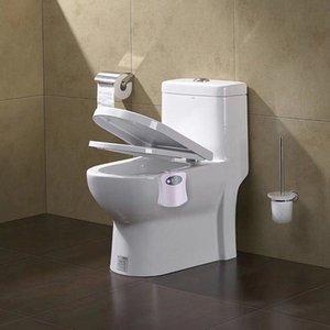스마트 욕실 화장실 나이트 라이트 LED 바디 모션 활성화 / 끄기 시트 센서 램프 8 다색 화장실 램프 DHA3711