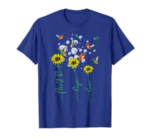 Faith Hope Love Heart Beat Christian Tee Birds Lover T-Shirt