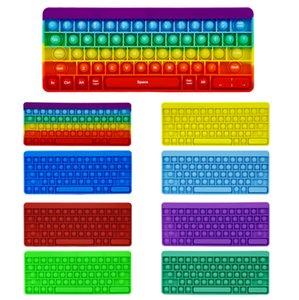 큰 크기의 키보드 푸시 버블 장난감 감각 거품 자폐증 특별 요구 사무실 근로자가 스트레스 짜기 보드 게임 - TOPN76을 줄이기위한 불안