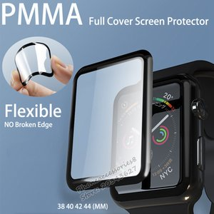 PMMA Full Coverage Screen Protector For Apple Watch iWatch 38 40 42 44 Samsung Active 40 44 huawei gt 2 42 46 xiaomi redmi watch