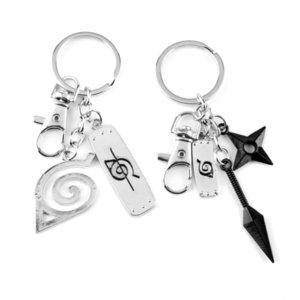 Naruto Keyhanger Ninja Kunai Weapons Modal Konoha Symbool Akatsuki Red Cloud Hanger Keyhangers Car Pockets Keyfob Drinks