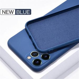 Coque iPhone 12 Pro Max Thone Funda de silicona líquida para la cubierta iPhone 11 Pro Max X XS XR 8 Samsung S21 S20 Nota 20 Protección de la cámara