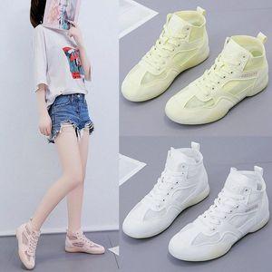 Women Casual Shoes Fashion High Top Mesh Lace Up Flat Shoe Sneakers Women 2020 Femmes Chaussures Vulcanized Shoes Pumps Shoes Munro Sh b4Ri#