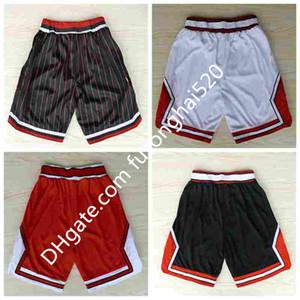 Ретро красная белая черная полоса баскетбол шорты мужские шорты новые дышительные спортивные штаны команды классические спортивные баскетбольные брюки в наличии