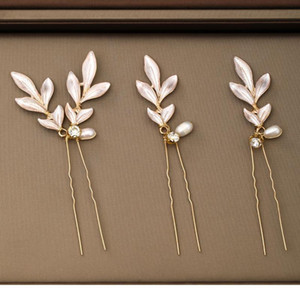 3 Pcs Wedding Hairpins Tiara Freshwater Pearls Golden Bridal Hair Clips Rhinestone Barrettes Women Hair Ornaments Acc jllMXb
