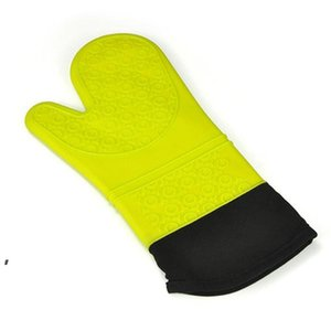 Silicone Oven Mitt Extra Long Oven Mitt Professional Mitts 1 Pair Oven with Quilted Liner high quality 5 colors DWA8792