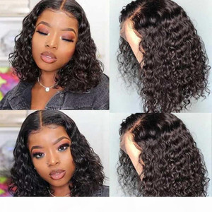 Hd Transparent Lace Wigs Bob Wig Lace Front Human Hair Wigs Curly Water Wave Front Wig Remy TPart Malaysian Human Hair