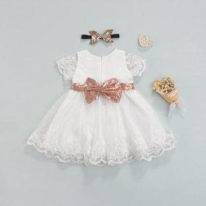 Girl's Dresses 2021 Fall Girls Kids Dress For Party Wedding Christmas Clothing Princess Flower Tutu Children Prom Ball Gown