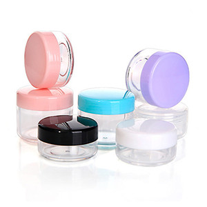 Small Clear Plastic Jar Empty Cosmetic Containers Cream Box Sample Makeup Sub-bottling Nail Powder Case Reusable