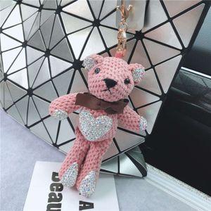 Bear bag Pendant Fashion inlaid doll flash diamond cartoon pineapple key chain jewelry store goods
