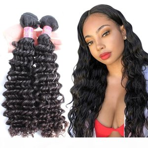 Bella Hair 10~24inch Virgin Indian Hair Human Hair Extension Unprocessed Natural Color Deep Wave Julienchina 2 Bundles Free Shipping