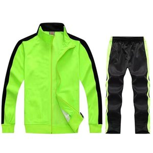 Men's Tracksuits Sports Suit 2021 Autumn And Winter Training Sportswear Boys Suits Gold Velvet Jacket Jersey