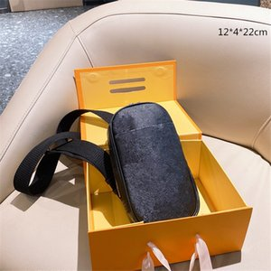 New Luxury Mens Phone Bag Mini Waist Bags Flowers Unisex Designers Crossbody Mens Chest Bags Mini Smartphone Bag L21022001