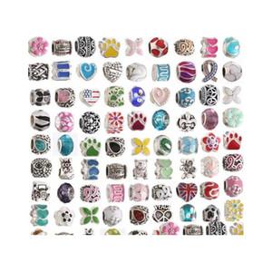Mix Styles Metal Drop Oil Big Hole Loose Enamel Beads Charm For Pandora Diy Jewelry Bracelet For jllVQF ffshop2001