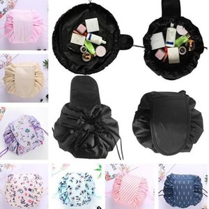 Sac cosmétique paresseux sacs magiques sacs de maquillage de cordon de cordon de stockage divers organisateur de voyage de voyage sac de toilette portable sacs lavage unisexe wy1064
