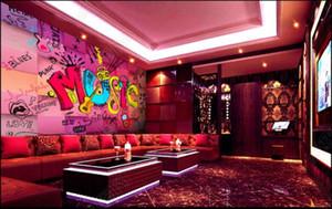 Custom photo wallpaper for walls 3 d murals wallpaper Modern letter music bar ktv decoration 3D background wall papers