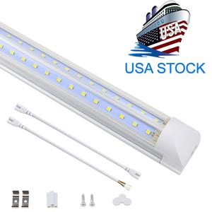 V Şekilli Entegre LED Tüpler Işık 4ft 5ft 6ft 8ft LED Tüp T8 72 W 100 W Çift Taraf Ampuller Dükkanı Işık Soğutucu Kapı Işık