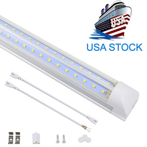 V شكل متكامل LED أنابيب ضوء 4ft 5ft 6ft 8ft الصمام أنبوب T8 72W 100W مزدوجة الجانبين المصابيح متجر ضوء برودة الباب