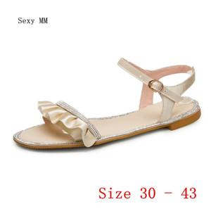 Summer Style Shoes Slides Women Flat Sandals Woman Shoes Flip Flops Slippers Sandals Small Plus Size 30 31 32 33 - 40 41 42 43