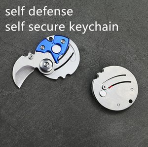 Amazon hot quality car window broker weman man steel Self Defense defensive self secure corn nife ring Mini weapon key pendant keychains