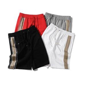 Pantalones cortos de hombre de verano con letra geométrica de moda pantalones cortos casuales de cintura elástica pantalones cortos para hombres deportivos s-2xl opcional