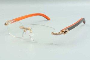 2021 new style high-end designers medium diamonds glasses 3524012 for men women natural hybrid wooden glasses frame, size: 36-18-135mm