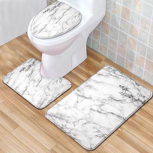 Bathroom Carpet Set Flannel Home Decor Toilet Pad Cover Bath Mat Toilet Seat Cover Set Rug Door Mat Pad Kitchen Blanket