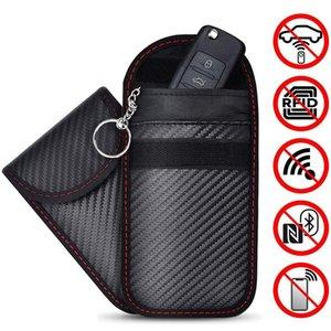 2020 rfid إشارة حظر حقيبة غطاء إشارة مانع القضية faraday قفص الحقيبة ل مفاتيح السيارة بدون مفتاح حماية الهاتف الخليوي