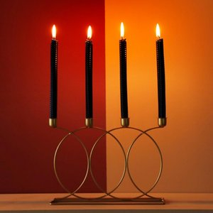 Nordic Creative Candle Holders Metal Wedding Centerpieces Gold Candles Holder Pillar Candle Holder Portavelas Table Decor AC50ZT