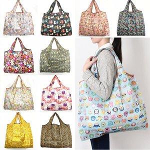 Новый водонепроницаемый нейлон складные сумки для покупок многоразовые хранения сумки экологически чистые сумки сумки сумки большая емкость Бесплатная доставка WX9-203