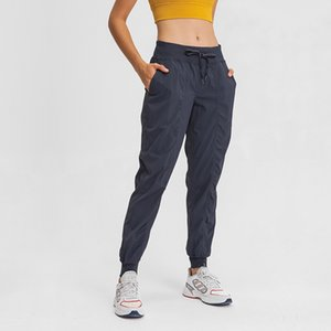 ins new woven pocket yoga pants loose loose-legged trousers quick-drying elastic sports casual pants women autumn and winter L-012