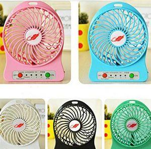 Портативный аккумуляторный вентилятор USB 3 Рабочая стойка передач Мини-воздушное охлаждающее охлаждение Охладитель настольный вентилятор с аккумулятором 18650 и светодиодный свет для Trave Camping