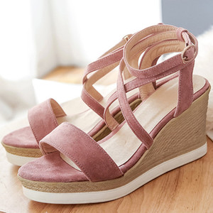 Designer Women Sandals Summer 2020 Female Shoes Woman Open Toe High Heels Ankle Strap Ladies Sandals Pink Plus Size 32 33 42 43 Q0224