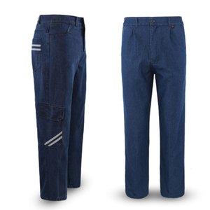 Pantalon de travail de la protection du travail Soudeur de soudage en denim résistant aux vêtements pour hommes